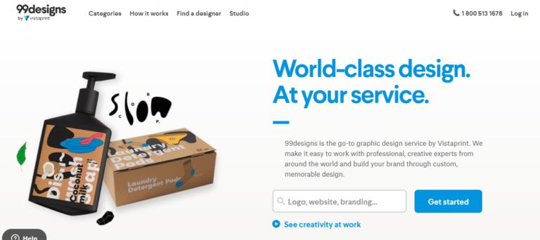 99designs.com's website
