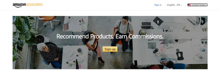 Amazon associates's website