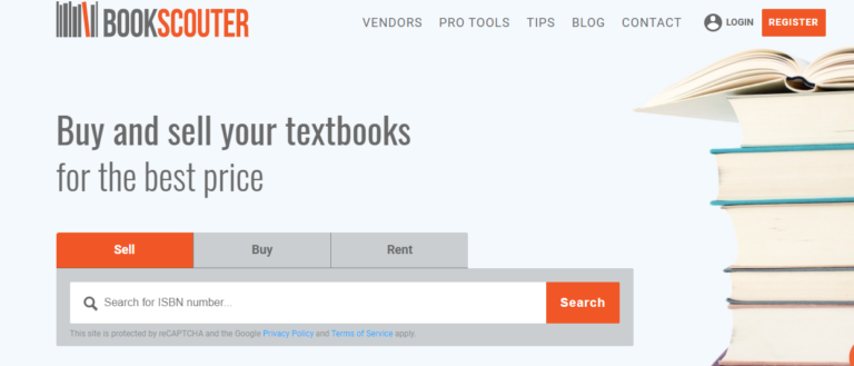 Bookscouter.com's website