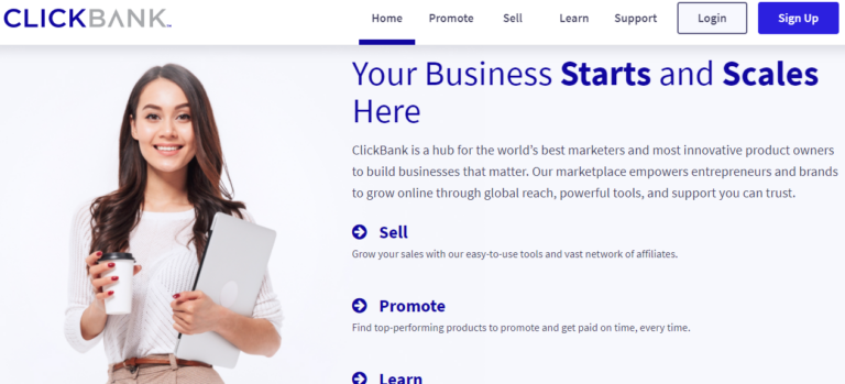 Clickbank.com's website
