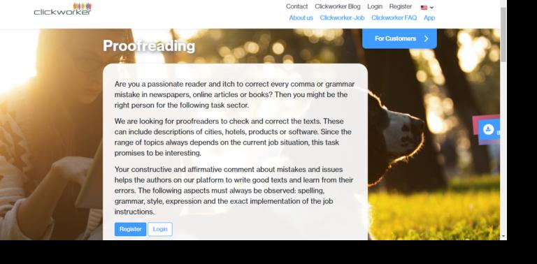 Clickworker.com's website