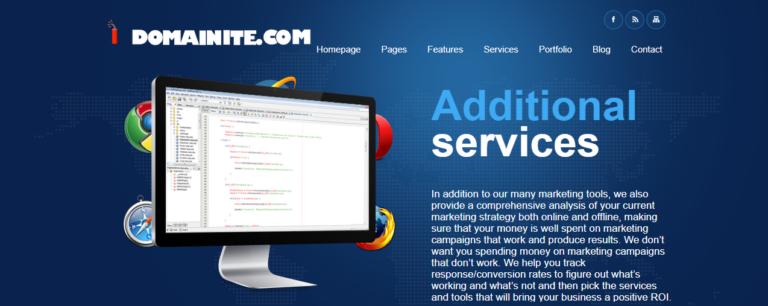 Domainite.com's website