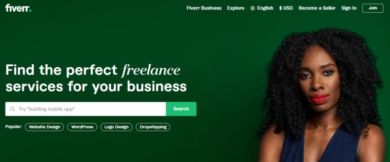 Fiverr.com's website