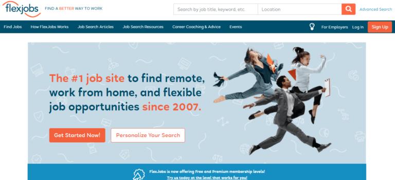 Flexjobs.com's website
