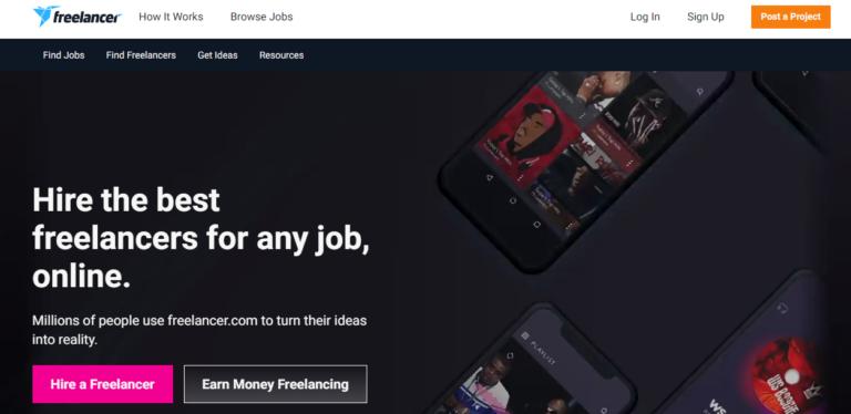 Freelancer.com's website