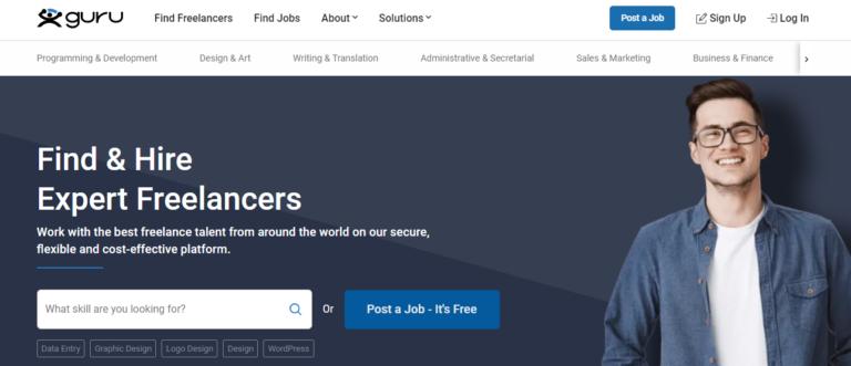 Guru.com's website