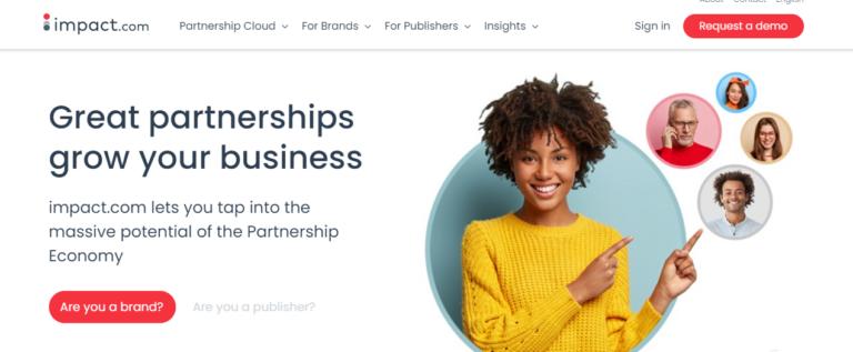 Impact.com's website