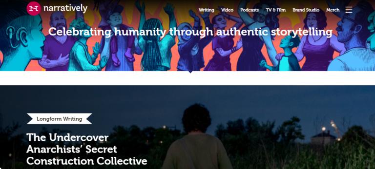 Naratively.com's website
