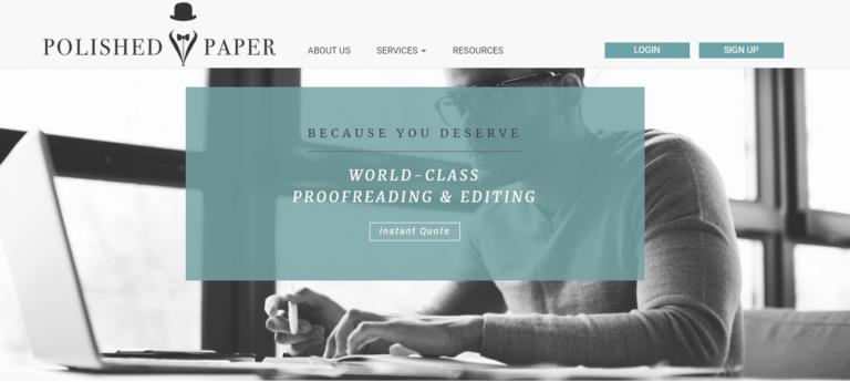 Polishedpaper.com's website