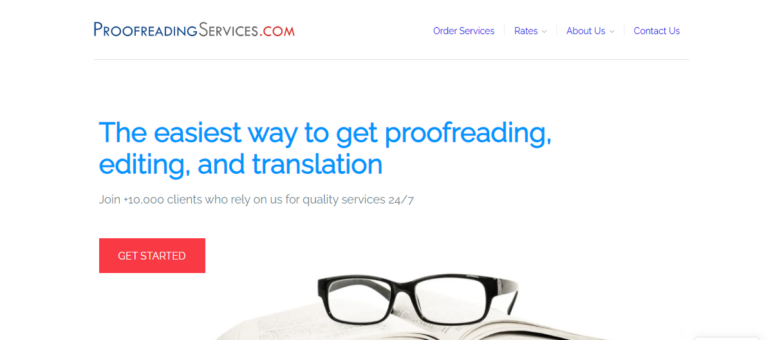 Proofreadingservices.com's website