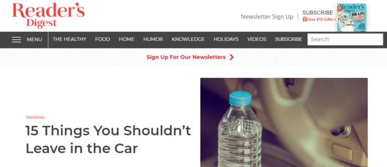 Readersdigest.com's website