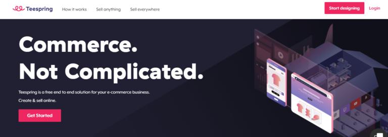 Teespring.com's website