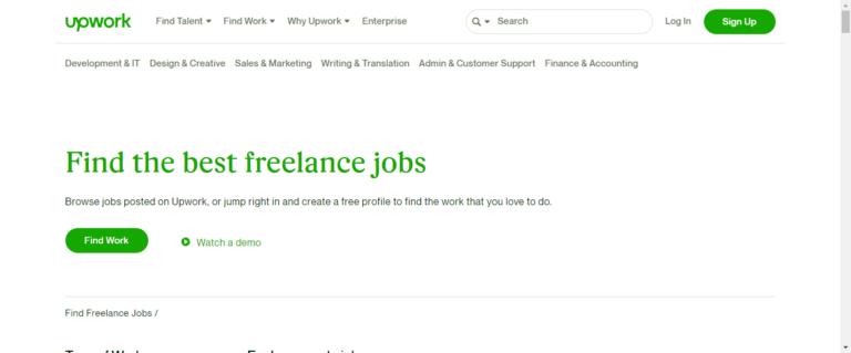 Upwork career page
