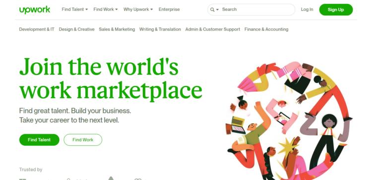 Upwork.com's website