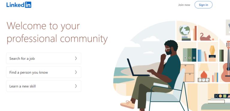linkedin.com's website
