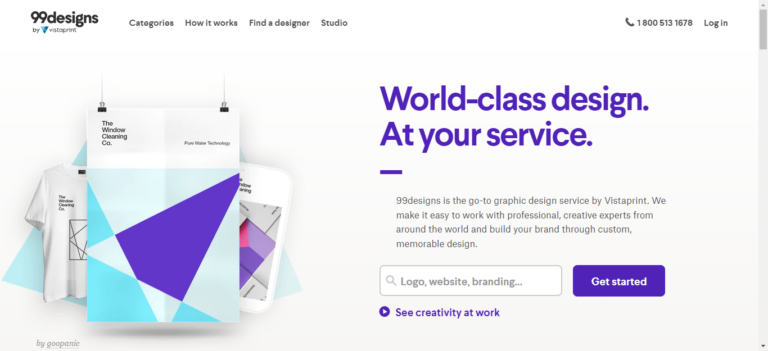 99 Designs website