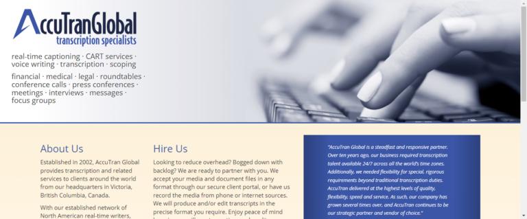 AccuTran Global's website