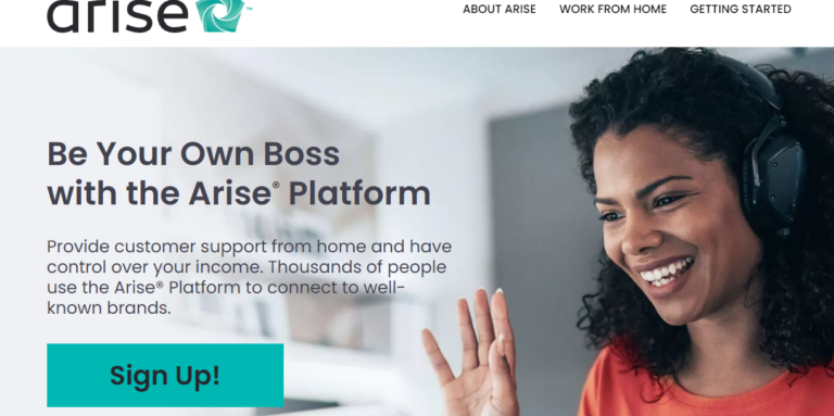 Arise Work From Home Website