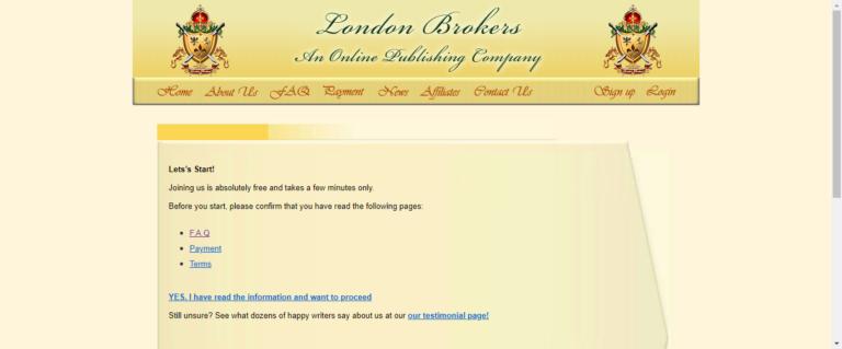 London brokers website
