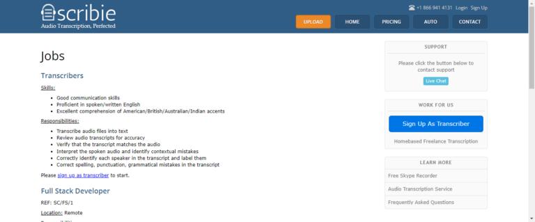 Scribie website