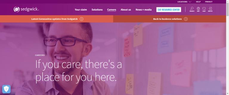 Sedgwick career website