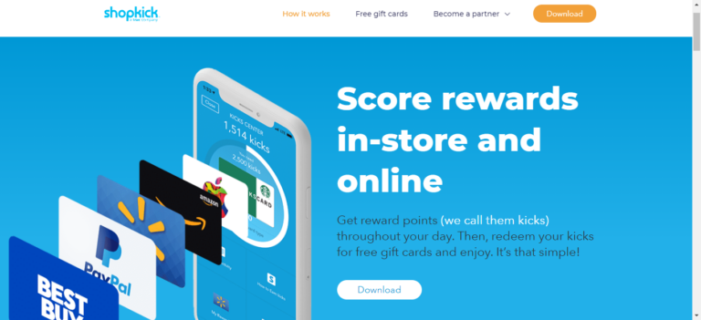 Shopkick website