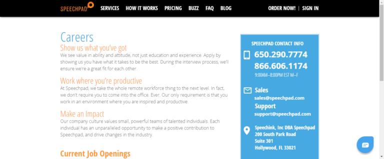 Speechpad website