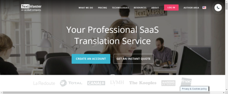 TextMaster Website