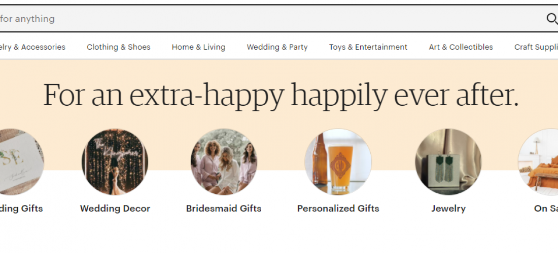 Etsy.com's website