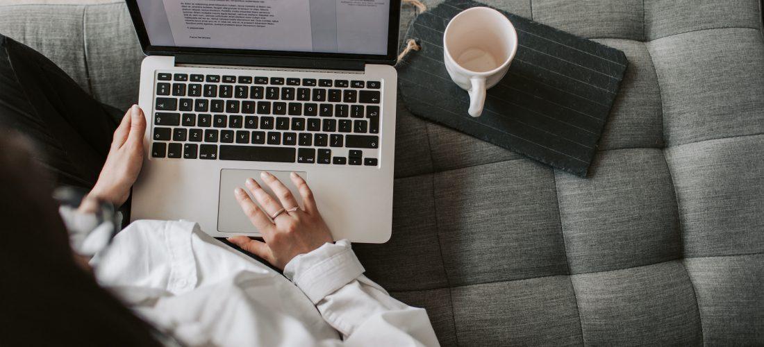 Freelance writer writing