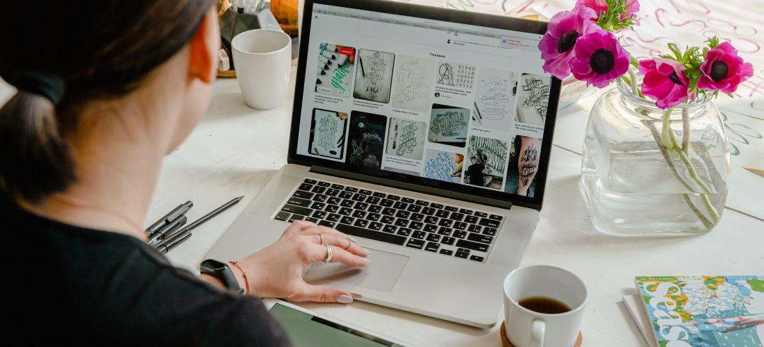 Graphic designer designing
