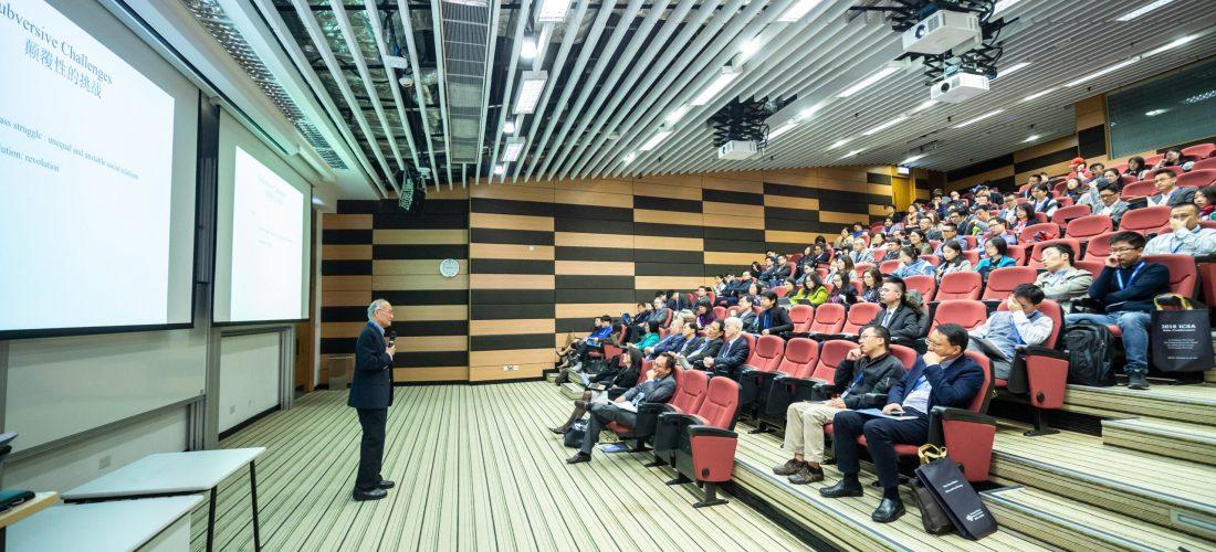 Public speaker speaking